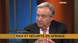 [Exclusive] U.N. chief Guterres discusses African peace and security