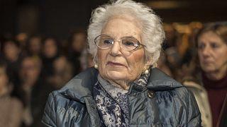 Image: Liliana Segre, Senator for Life, in Italy.