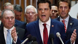 Image: Rep. Matt Gaetz Holds Press Conference Calling For Transparency In I