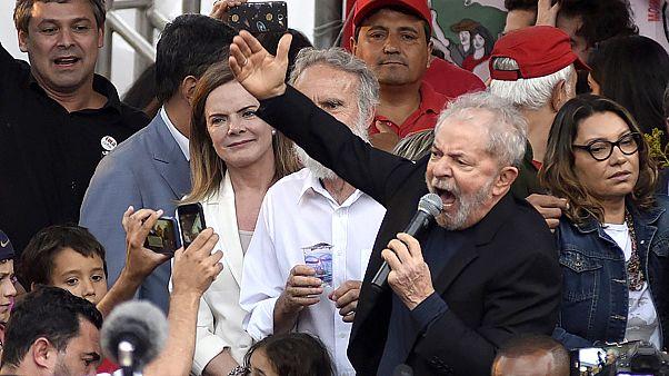 Image: FILE: Former President Of Brazil 'Lula' Da Silva Is Released From Pr