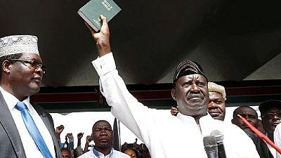 "Kenya : l'opposant Odinga prête serment comme ""président du peuple"""