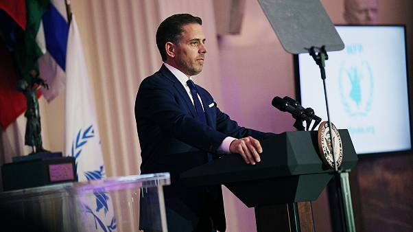 World Food Program USA Board Chairman Hunter Biden speaks in Washington in