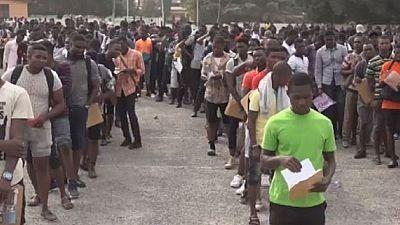 ''Mad rush'' for Ghana police recruitment