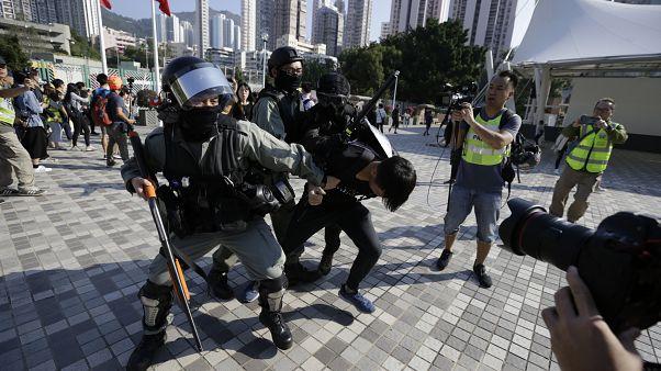 IMAGE: Protests in Hong Kong