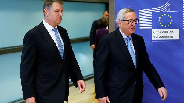 A szankciók ellen érvelt a román elnök Brüsszelben