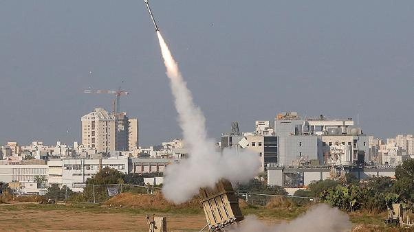 Image: An Israeli missile is launched from the Iron Dome defence missile sy