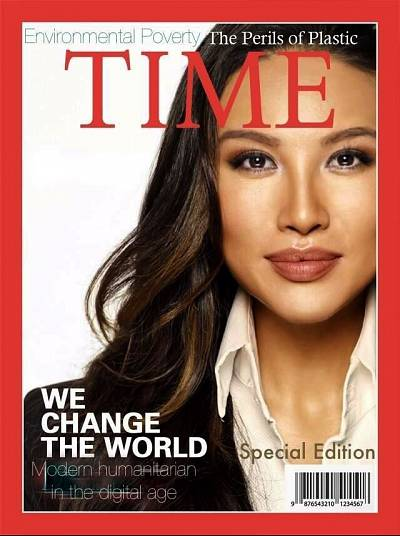 A fake Time magazine cover with Mina Chang.