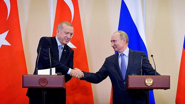 Image: Turkish President Tayyip Erdogan and Russian President Vladimir Puti