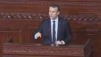 Macron lauds Arab-spring's  contribution to Tunisia's democracy