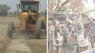[Photos] Nigeria : l'armée construit des routes dans l'ancien quartier général de Boko Haram