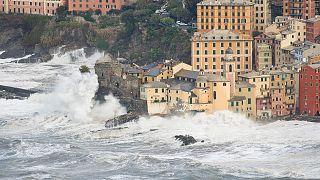 Meno linea di costa in Europa a causa dell'innalzamento del livello del mare nel 2100