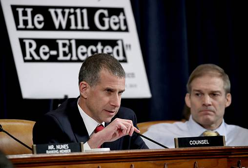 Image: Minority counsel Steve Castor speaks at an impeachment hearing with