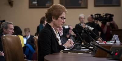 Former U.S. Ambassador to Ukraine Marie Yovanovitch testifies before the House Intelligence Committee, on Nov. 15, 2019, on Capitol Hill.
