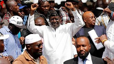 Kenya police effects third arrest over Odinga's swearing in
