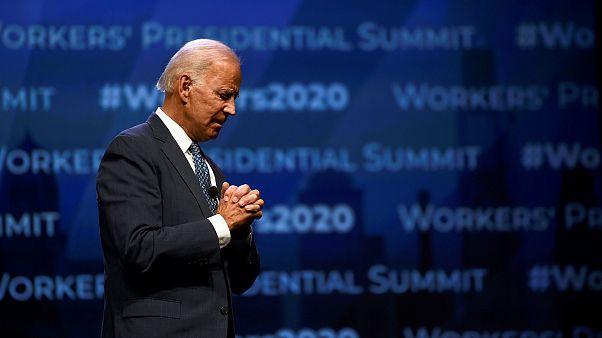 Image: Former U.S. Vice President Joe Biden addresses attendees during the