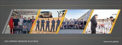 Facebook banner picture for defense contractor Automotive Management Services(AMS) featuring Mina Chang.