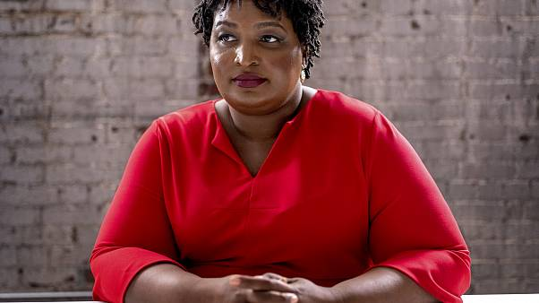 Image: Stacey Abrams at the Elevator Factory in Atlanta on Feb. 26, 2019.