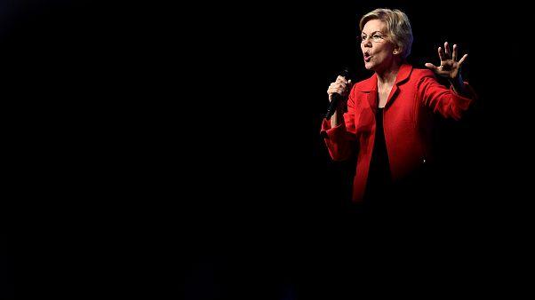 Image: Sen. Elizabeth Warren, D-MA, speaks at an event in Las Vegas on Nov.