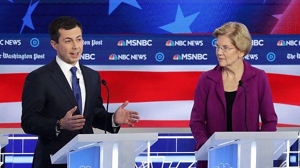 Democratic Presidential Candidates Participate In Debate In Atlanta, Georgi