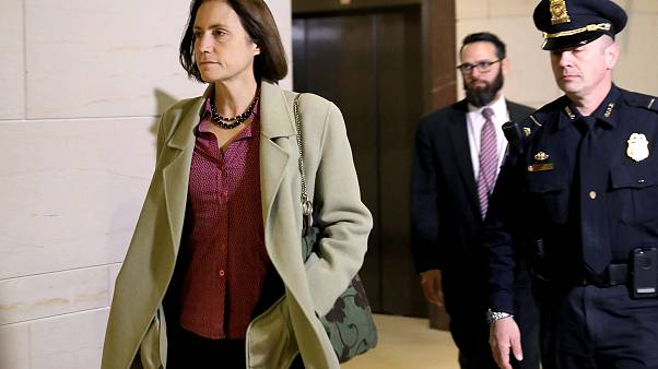 Image: Fiona Hill arrives to testify in Trump impeachment inquiry on Capito
