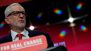 Image: Labour Party leader Jeremy Corbyn speaks at the launch of the party