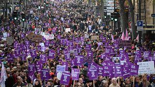 Image: Paris domestic violence protest