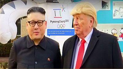 JO d'hiver 2018 : des sosies de Trump et Kim