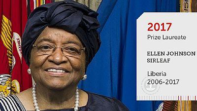"""Résultat de recherche d'images pour """"Ellen Johnson Sirleaf, Mo Ibrahim prize, 2017"""""""