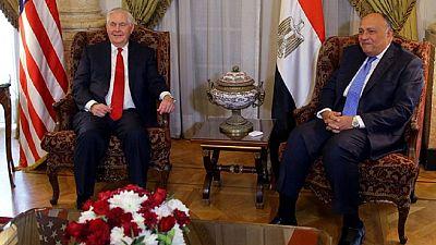 Au Caire, Tillerson entame une tournée au Moyen-Orient