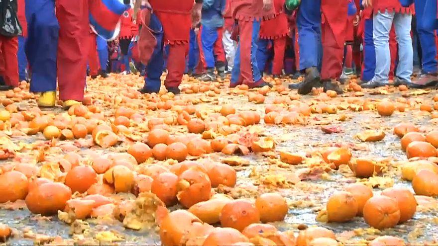 Битва апельсинов в Иврее
