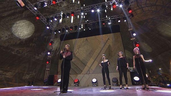 Eurovision : les demi-finales roumaines dans une mine de sel