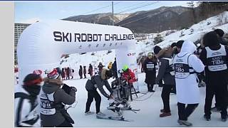 Robots take to the slopes in Pyeongchang