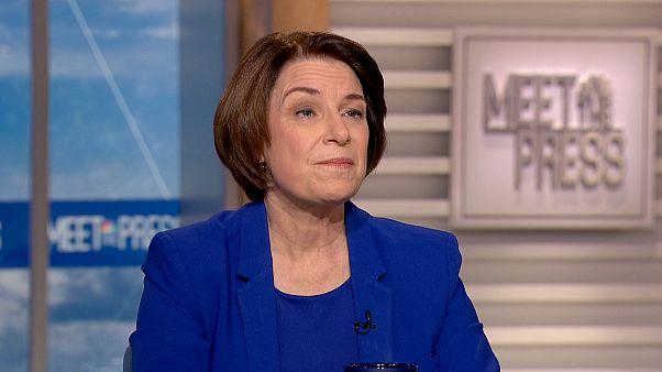 "Image: Sen. Amy Klobuchar appears on ""Meet The Press"" on Dec. 1, 2019."