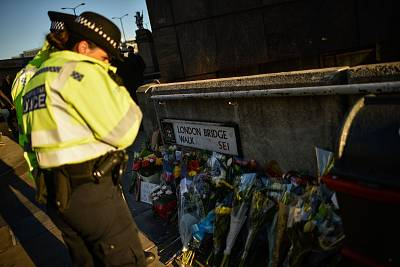 Floral tributes are left for Jack Merritt and Saskia Jones, who were killed in Friday\'s terror attack on London Bridge.