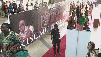 Fans in Kenya upbeat about ''Black Panther'' movie