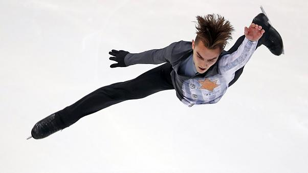 Anton Shulepov of Russia competes in Grenoble, France, on Nov. 2, 2019.