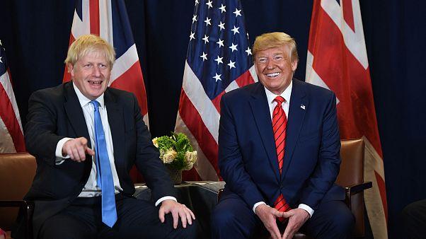 Image: Donald Trump,  Boris Johnson