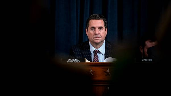 Image: Rep. Devin Nunes, R-CA, looks on during testimony at a House Intelli