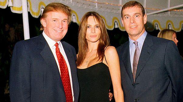 Image: Trump, Knauss, & Prince Andrew At Mar-A-Lago