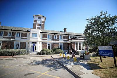 The Manchester University NHS Foundation Trust building at Trafford General Hospital in Manchester, previously known as Park Hospital, where the NHS was launched by the then health secretary Aneurin Bevan.