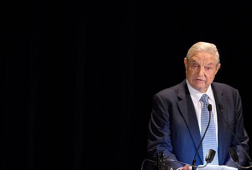 Image: FILE PHOTO: George Soros speaks on stage at the Annual Freedom Award
