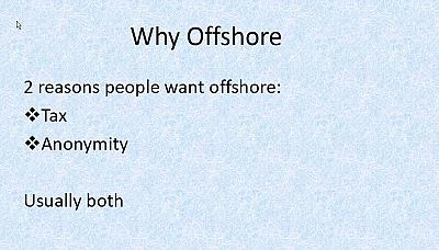 A slide from a PowerPoint presentation created by Formations House to market offshore shell companies to clients.