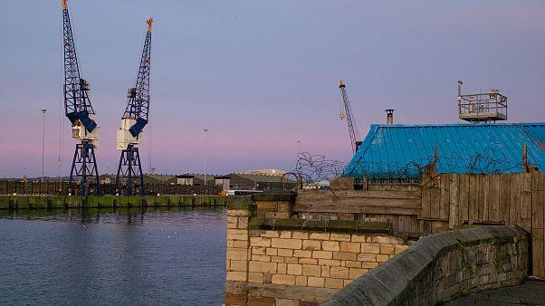 Image: Cranes in Hartlepool docks.
