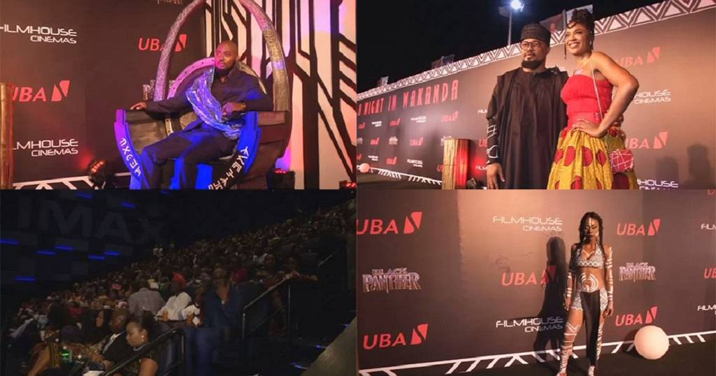 Nigerian cinema fans celebrate release of ''Black Panther'' movie