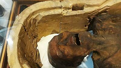 """Égypte : la """"momie hurlante"""" exposée au musée du Caire"""