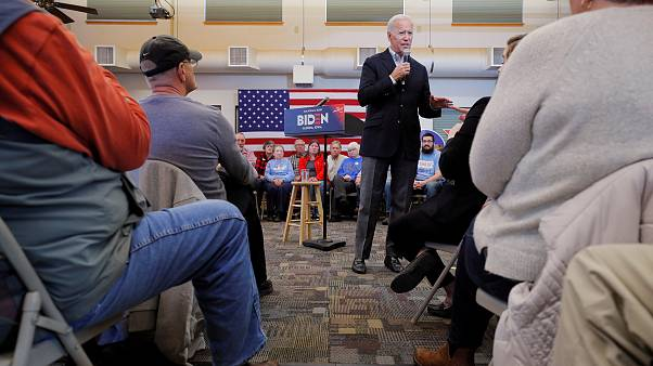 Image: Democratic 2020 U.S. presidential candidate Biden speaks during a st