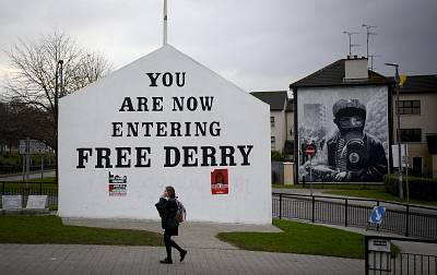 Free Derry corner in the Catholic Bogside area of Derry.