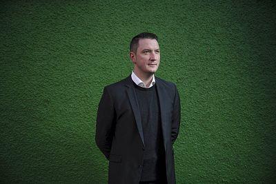 John Finucane out in the Ardoyne area of north Belfast.