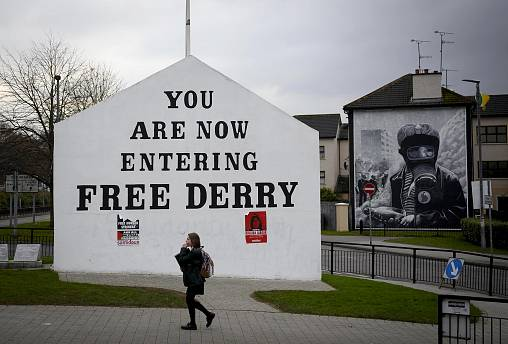 Image: Free Derry corner in the catholic Bogside area of Derry.