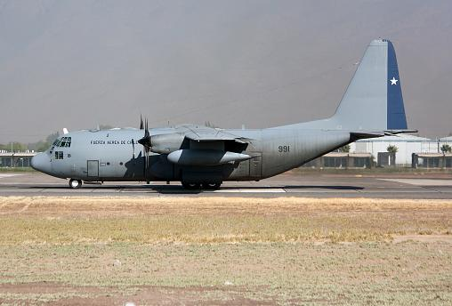 Image: A Chile Air Force Lockheed C-130 Hercules seen ready to